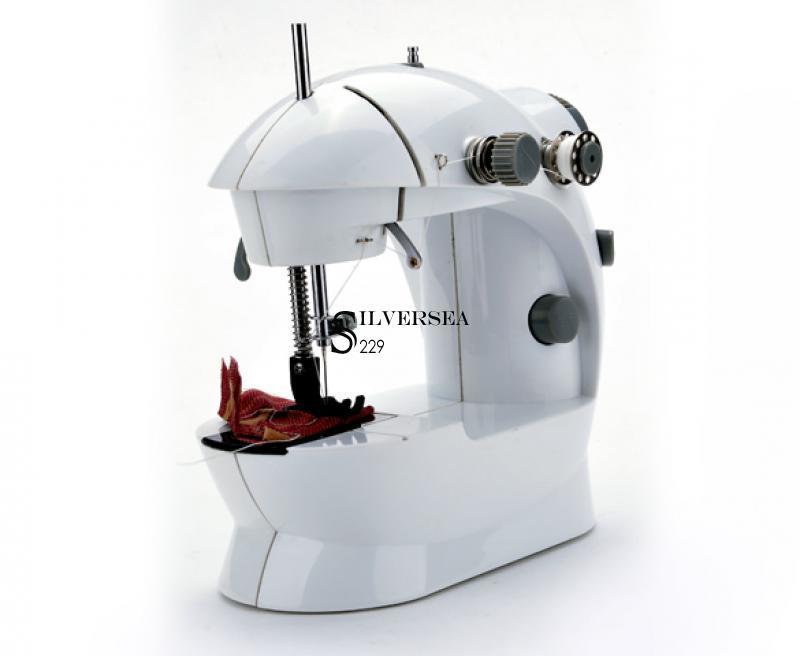 white mini sewing machine