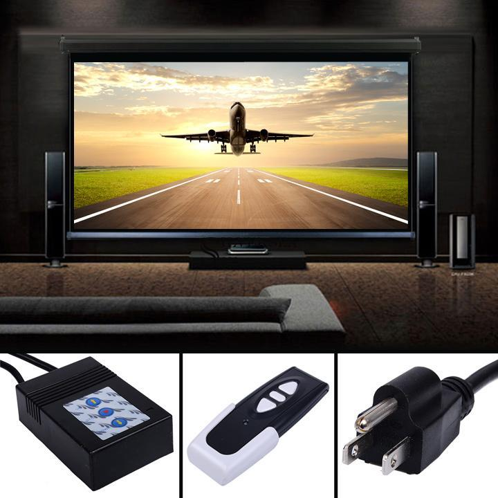 Projector Screen Motorized Electric Auto Remote Control