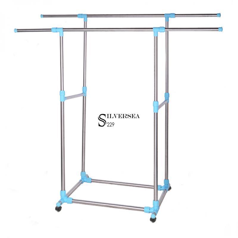 adjustable portable clothes hanger rolling garment rack. Black Bedroom Furniture Sets. Home Design Ideas