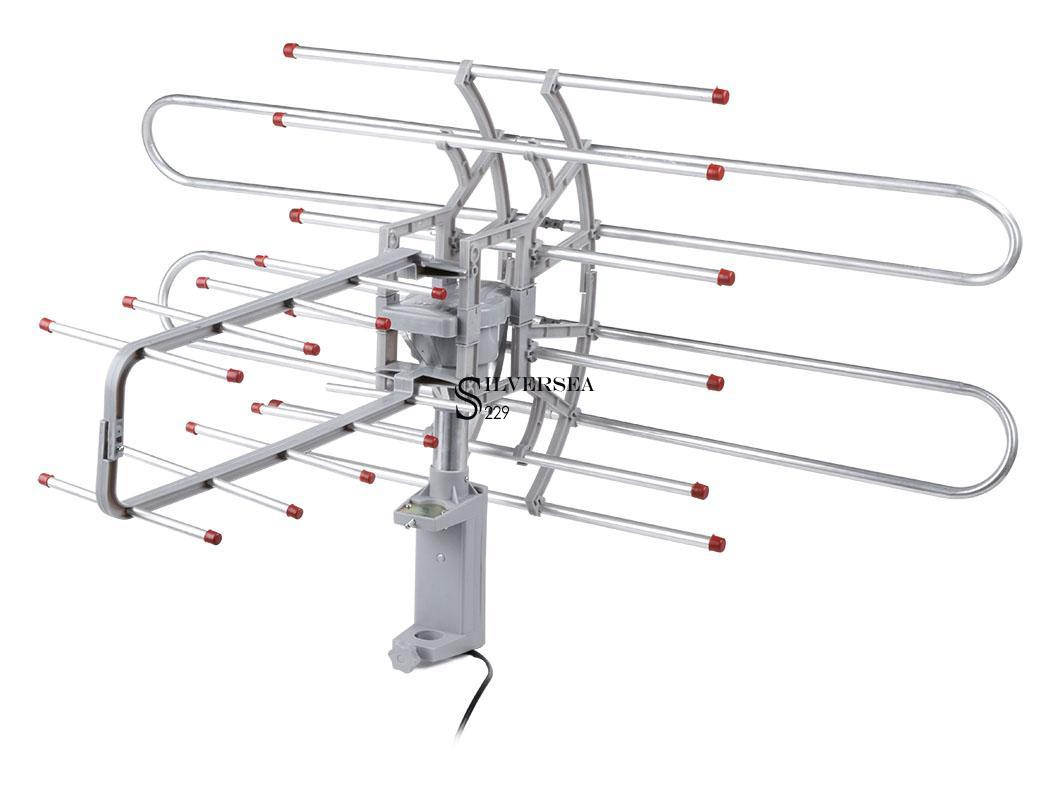 150mile hdtv 1080p outdoor amplified hd tv antenna digital uhf  vhf fm radio best