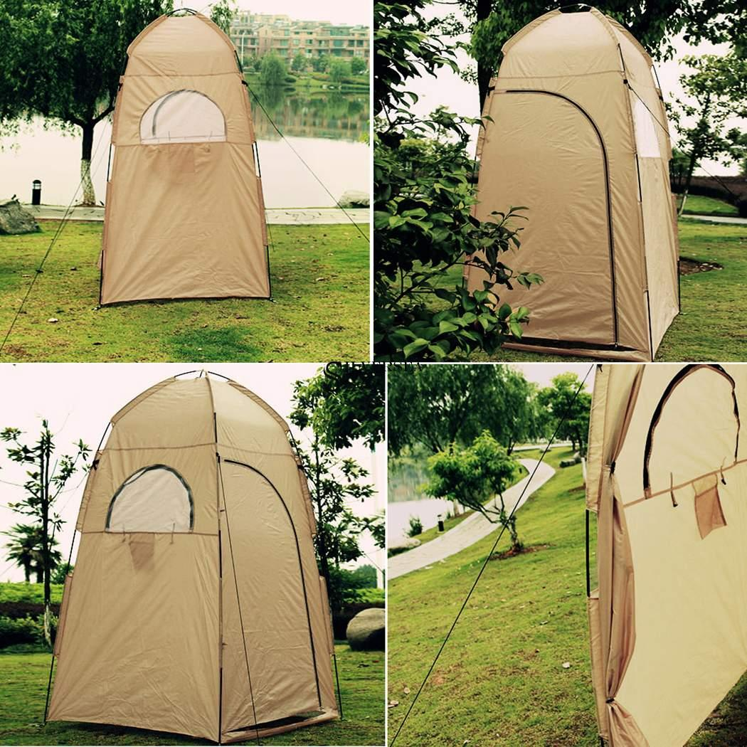 Portable Camp Shower Tent Shelter Camping Hiking Outdoor ...