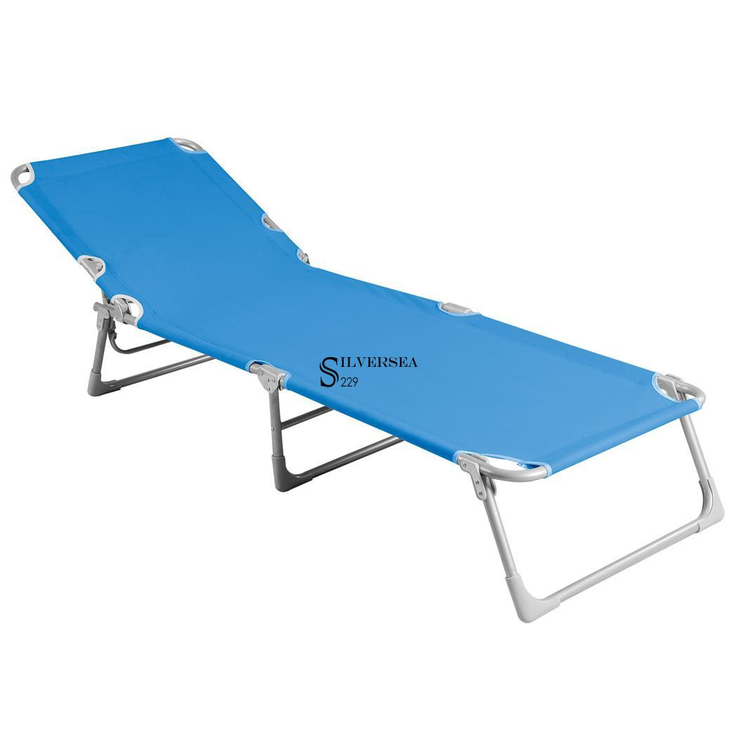 Folding chaise lounge chair patio outdoor pool beach lawn for Beach chaise lounger